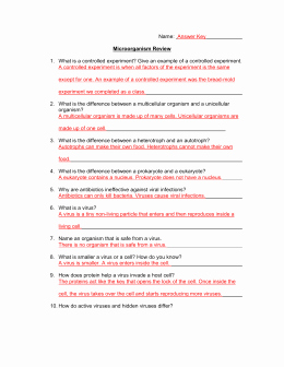 Virus and Bacteria Worksheet Key Best Of Unit 8 – Classification and Viruses Bacteria Independent