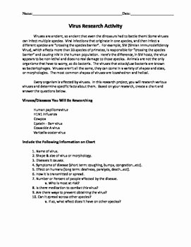 Virus and Bacteria Worksheet Luxury Biology Viruses and Bacteria Worksheets by Beverly S