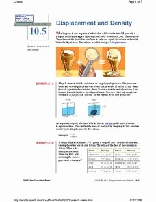 Volume by Water Displacement Worksheet Awesome Water Displacement Lesson Plans & Worksheets Reviewed by