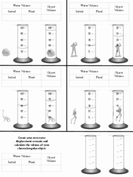 Volume by Water Displacement Worksheet Elegant Calculating Volume Regular Vs Irregular Objects by for