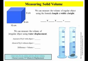 Volume by Water Displacement Worksheet Unique Mrs Hussein Salina Intermediate Mrs Hussein 6th Grade Blog