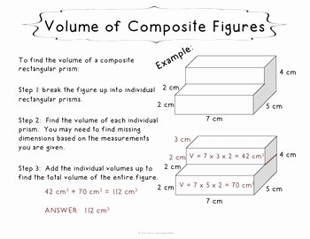 Volume Of Composite Figures Worksheet Awesome Volume Of Posite Rectangular Figures Task Cards 5th