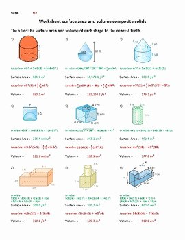 Volume Of Composite Figures Worksheet Best Of Surface area and Volume Of Posite Figures Worksheet