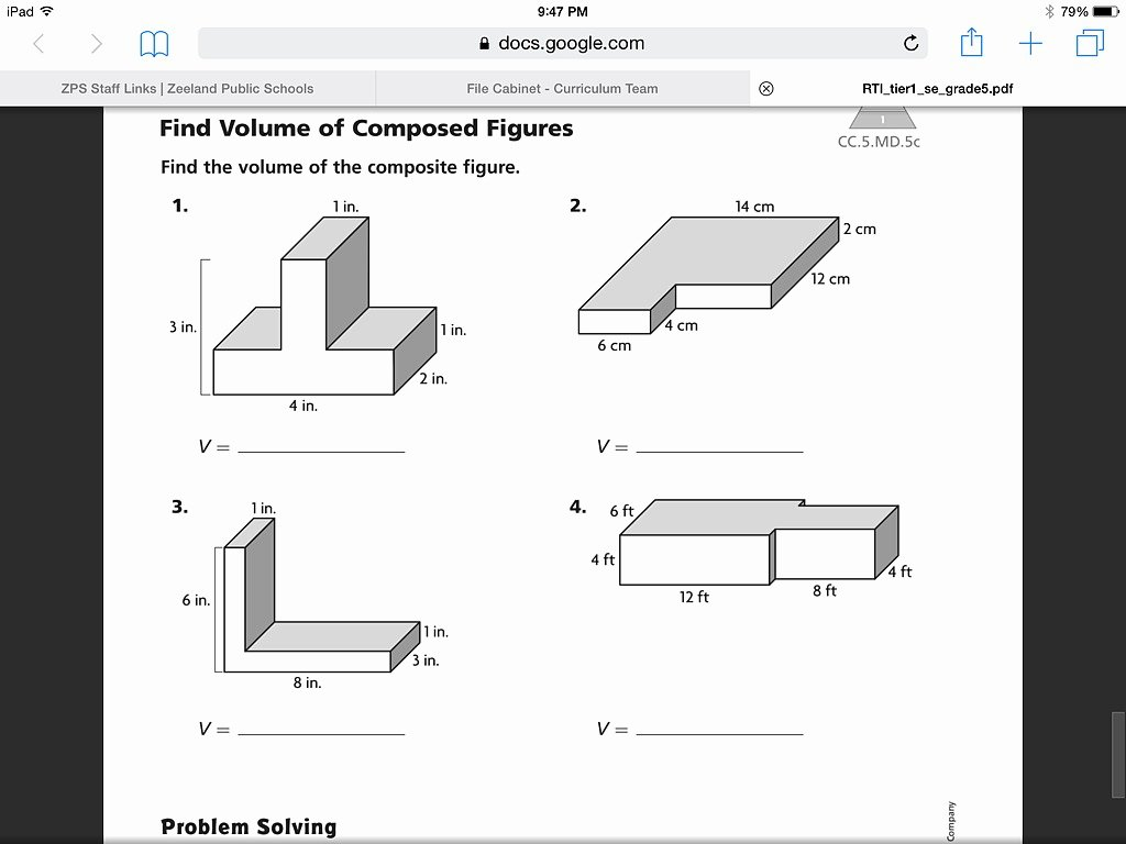 Volume Of Composite Figures Worksheet Lovely Showme Go Math Volume Of the Posite Figure 11 11