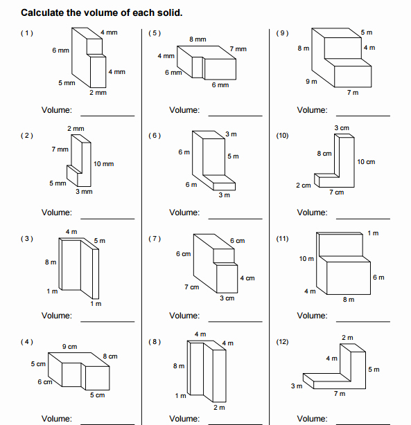 Volume Of Composite Figures Worksheet Lovely Volume Posite Figures Worksheet 5th Grade the Best