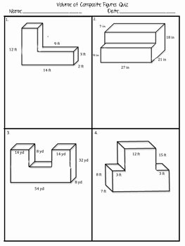Volume of posite Figure Quiz
