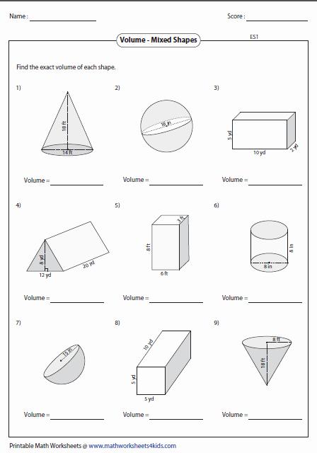 Volume Of Composite Figures Worksheet Unique Volume Worksheets
