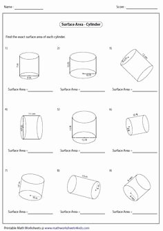 Volume Of Cylinders Worksheet Best Of Updated 2015 10 28 Calculating Surface area and Volume Of