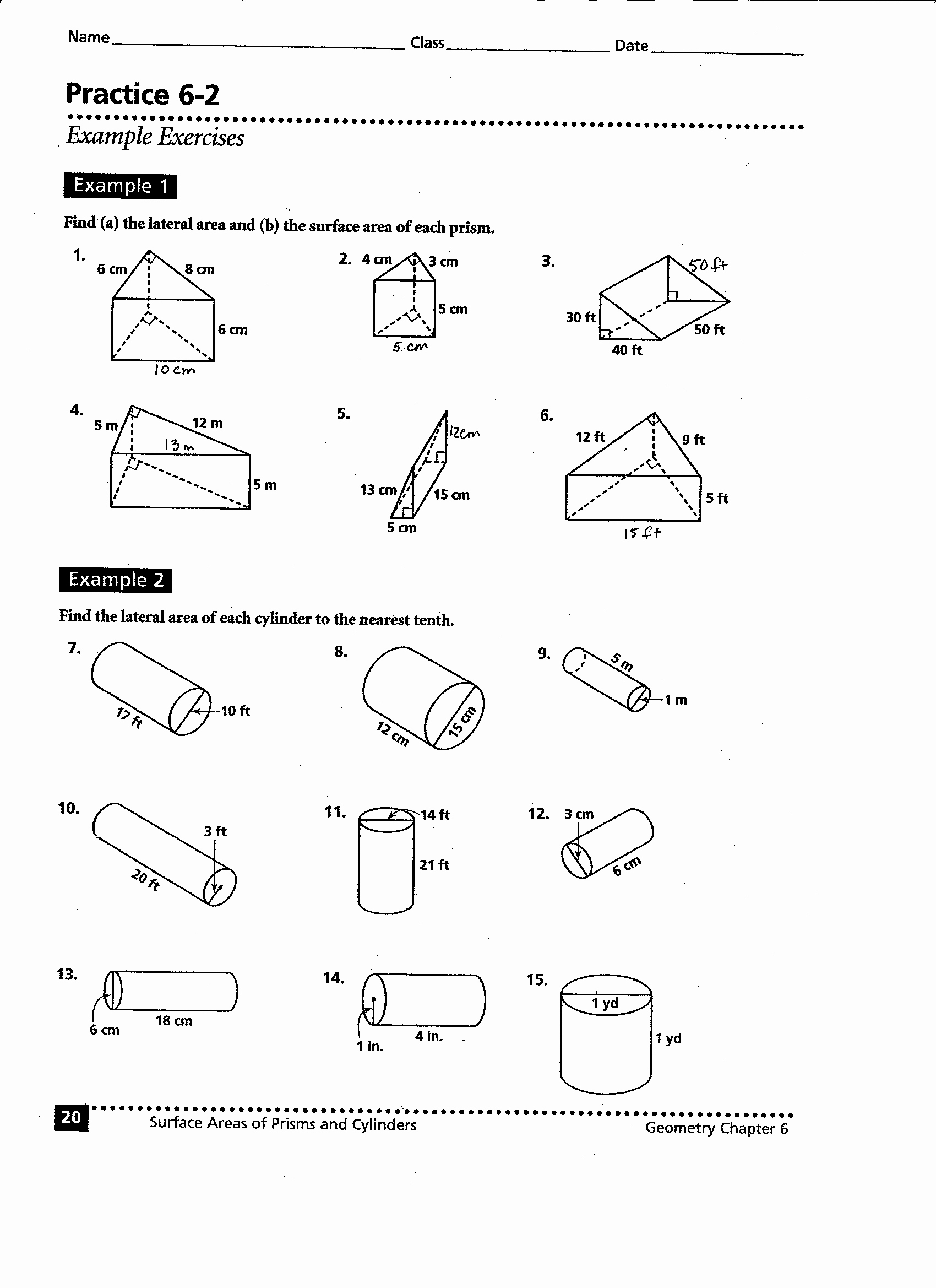 Volume Of Cylinders Worksheet Elegant 41 Volume Prisms and Cylinders Worksheet Quiz