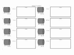 Volume Of Cylinders Worksheet Fresh Finding the Volume Of Cylinders 3 X Worksheet with