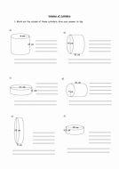 Volume Of Cylinders Worksheet Lovely Finding the Volume Of Prisms and Cylinders by
