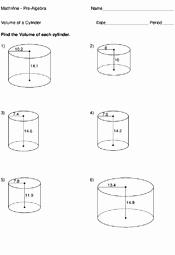 Volume Of Cylinders Worksheet Lovely Volume A Cylinder Worksheets Mathvine