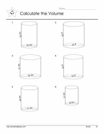 Volume Of Cylinders Worksheet Lovely Volume Of A Cylinder Worksheets