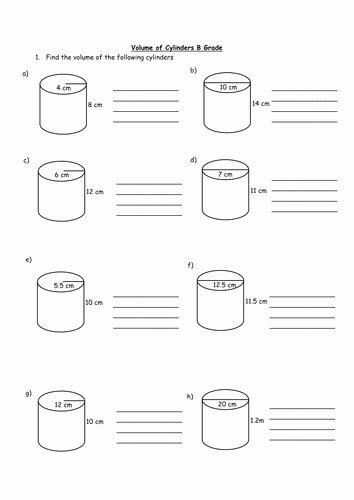 Volume Of Cylinders Worksheet New Volume Worksheet
