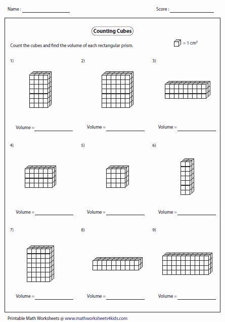 Volume Of Prism Worksheet Beautiful Volume Worksheets