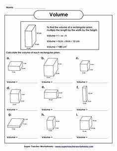 Volume Of Prism Worksheet Elegant 1000 Images About Tutoring On Pinterest