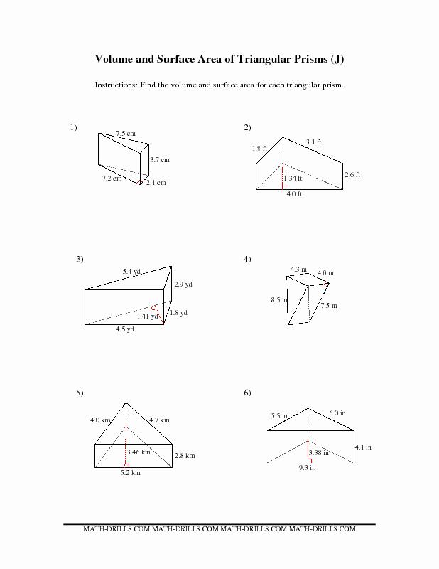 Volume Of Prism Worksheet Elegant Volume Of Trapezoidal Prism Worksheet