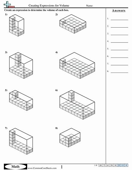 Volume Of Prism Worksheet Fresh Volume Worksheets