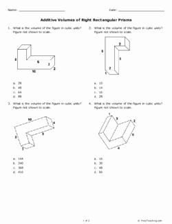 Volume Of Prism Worksheet Lovely Additive Volumes Of Right Rectangular Prisms Grade 5