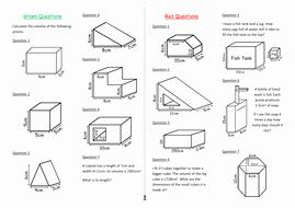 Volume Of Prism Worksheet Luxury Calculating Volumes Of Prisms by Dsilkstone Teaching