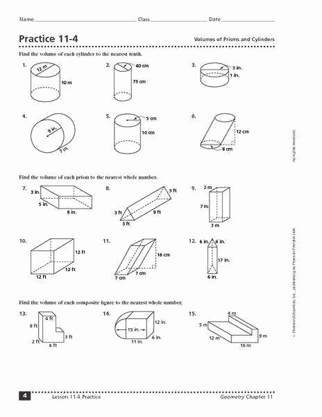 Volume Of Prism Worksheet Unique Volume Worksheets 5th Grade