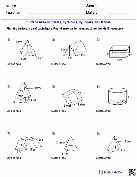 Volume Of Pyramids Worksheet Best Of Pinterest • the World's Catalog Of Ideas