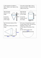 Volume Of Pyramids Worksheet Inspirational Maths area & Volume Of Pyramids Cones Worksheet by