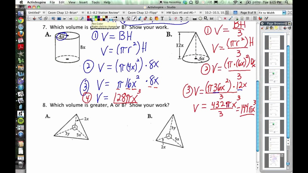 Volume Of Pyramids Worksheet Lovely 10 2 10 3 10 6 Geometry Volumes Of Prisms Cylinders