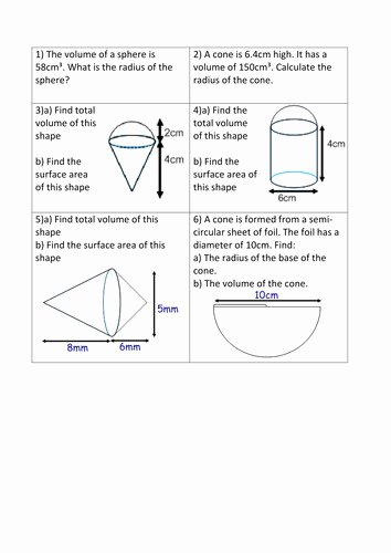Volume Of Sphere Worksheet Best Of Volume A Sphere Worksheet