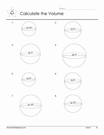Volume Of Sphere Worksheet Unique Volume Of A Sphere Worksheets