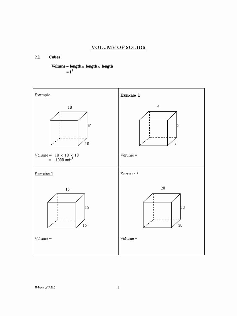 Volume Of Sphere Worksheet Unique [worksheet] Volume Of solids Pdf Volume