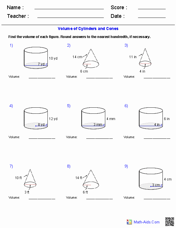 Volume Of Spheres Worksheet Awesome Geometry Worksheets