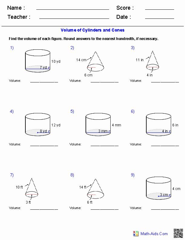 Volume Of Spheres Worksheet Awesome Geometry Worksheets