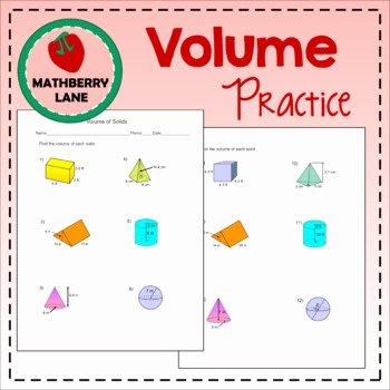 Volume Of Spheres Worksheet Awesome Volume Of solids Worksheet Prisms Cylinders Cones