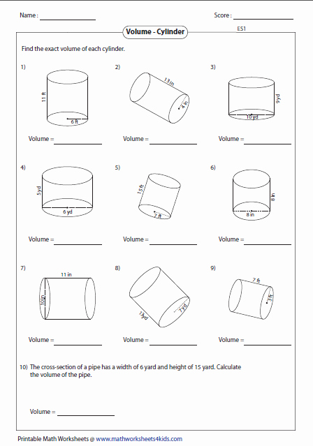 Volume Of Spheres Worksheet Elegant Volume Worksheets