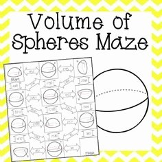 Volume Of Spheres Worksheet Fresh Volume Of Spheres Maze