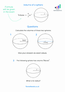 Volume Of Spheres Worksheet Inspirational Volume Of A Sphere Worksheet by Flowmathematics