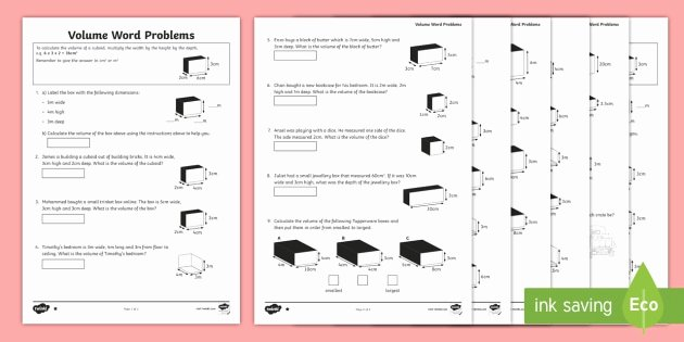 Volume Rectangular Prism Worksheet Best Of Volume Of Rectangular Prism Word Problem Worksheets
