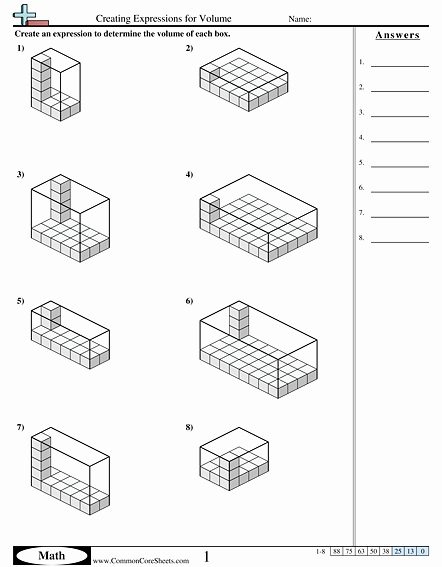 Volume Rectangular Prism Worksheet Best Of Volume Worksheets