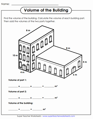 Volume Rectangular Prism Worksheet Best Of Volumes Of Rectangular Prisms Worksheets