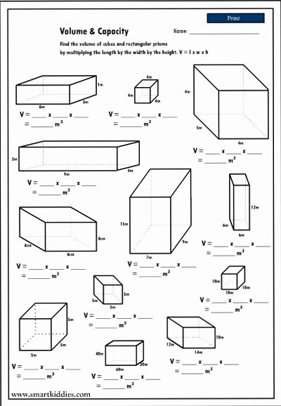 Volume Rectangular Prism Worksheet Elegant 8 Best Of Paring Shapes Worksheet Paring