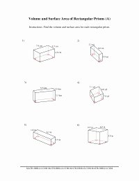 Volume Rectangular Prism Worksheet Elegant Measurement Worksheets