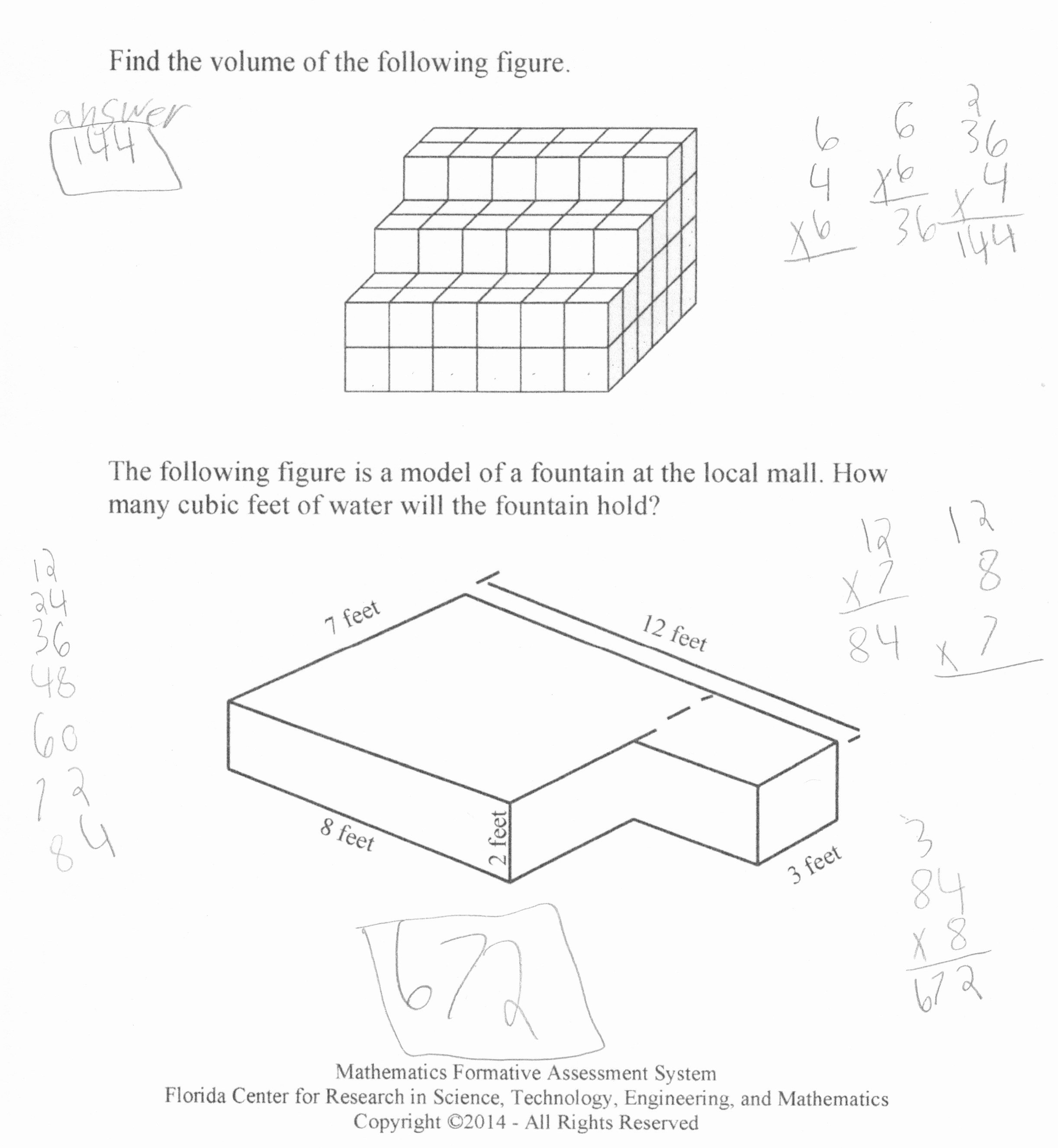 Volume Rectangular Prism Worksheet Elegant Using Additive Reasoning when Finding Volume