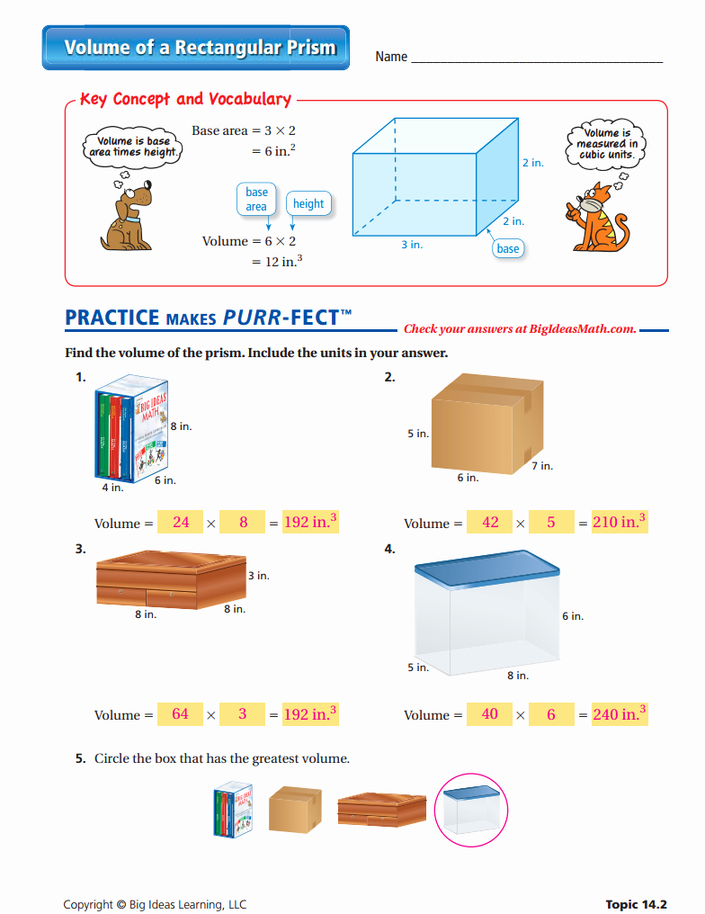 Volume Rectangular Prism Worksheet Inspirational Worksheet Volume Prisms and Cylinders