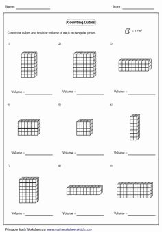 Volume Rectangular Prism Worksheet Lovely Volume Of Rectangular Prism Worksheet