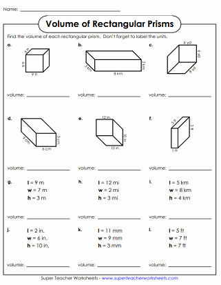 Volume Rectangular Prism Worksheet Lovely Volumes Of Rectangular Prisms Worksheets