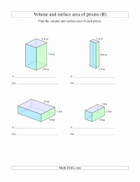 Volume Rectangular Prism Worksheet Luxury Volume and Surface area Of Rectangular Prisms with Decimal