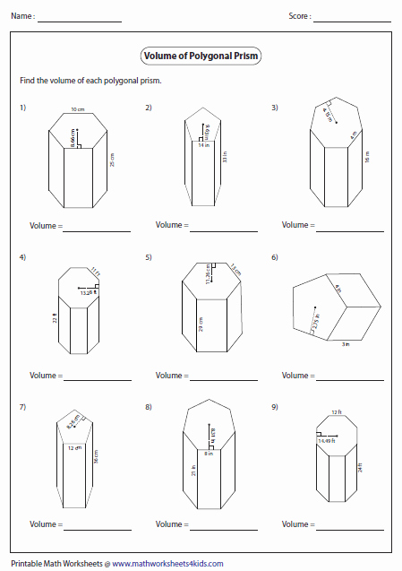 Volume Rectangular Prism Worksheet New Volume Worksheets