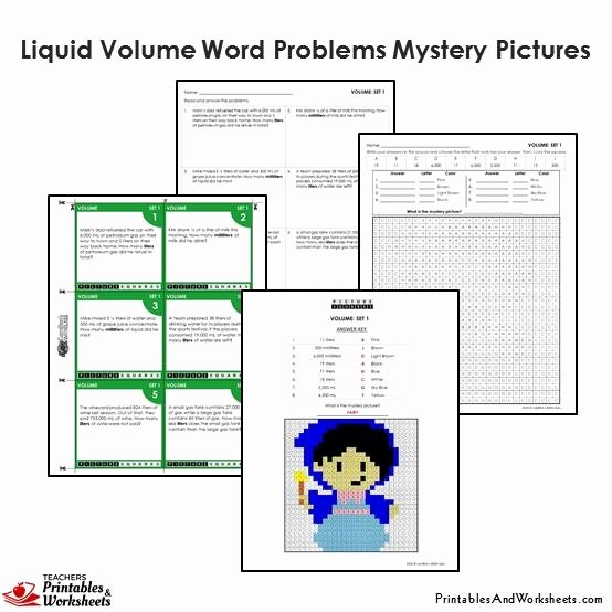 Volume Word Problems Worksheet Awesome 4th Grade Liquid Volume Word Problems Coloring Worksheets