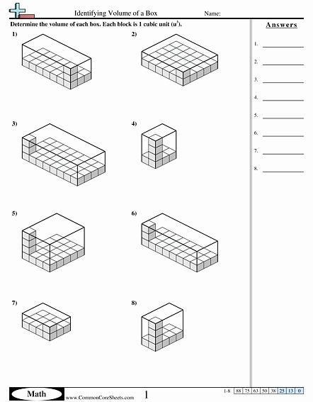 Volume Word Problems Worksheet New Volume Worksheets